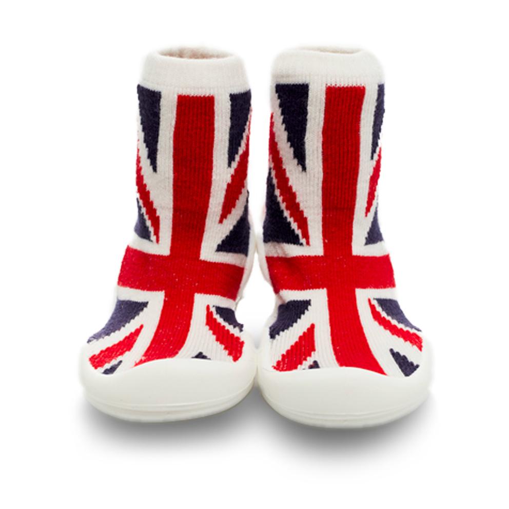 Baby著用襪子鞋鞋【英國國旗(長筒)】是襪子也是鞋子
